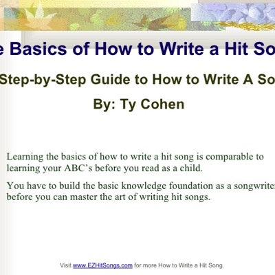Write a Song - TY