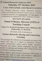 8th Annual Research Conference Theme: Teacher Research: Sharing and Connecting Learning